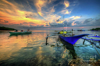 Photograph - Butalid Causeway Sunset by Yhun Suarez
