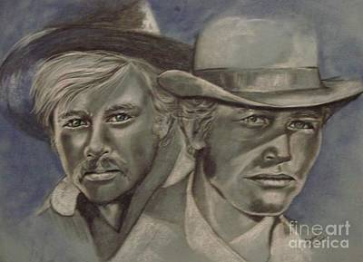 Superstar Drawing - Butch And Sundance by Sandra Valentini