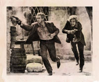 Musicians Royalty Free Images - Butch Cassidy and the Sundance Kid, Classic Movie Royalty-Free Image by Esoterica Art Agency