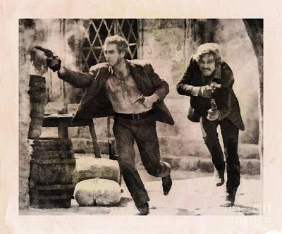 Butch Cassidy And The Sundance Kid, Classic Movie Art Print by John Springfield