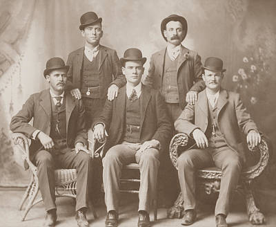 Carver Photograph - Butch Cassidy - Sundance Kid - Wild Bunch  by War Is Hell Store