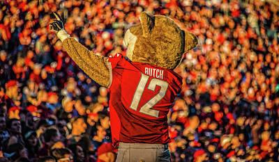 Football Photos - Butch Cougar by Ed Broberg
