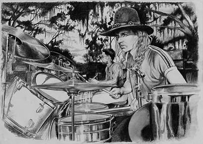 Macon Drawing - Butch Trucks by Art Imago