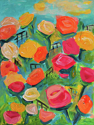 Mixed Media - Butchart Garden Flowers by Haleh Mahbod