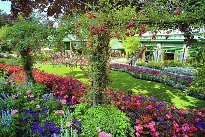 Butchart Gardens 1 Original by Lawrence Christopher
