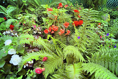 Butchart Gardens 2 Original by Lawrence Christopher