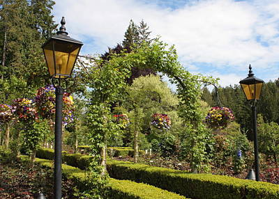 Photograph - Butchart Gardens Arches by Carol Groenen