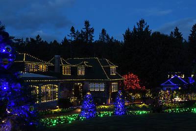 Photograph - Butchart Gardens Christmas 1 by Inge Riis McDonald