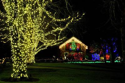 Photograph - Butchart Gardens Christmas 6 by Inge Riis McDonald