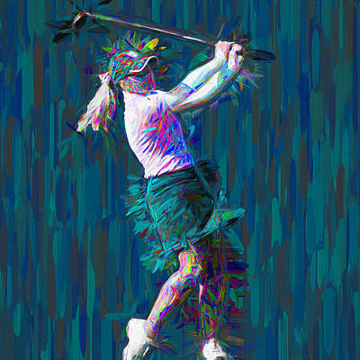 Photograph - Buter University Golfer Painted Jp by David Haskett II