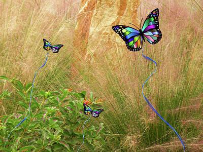 Mixed Media - Buterflies Dream by Rosalie Scanlon