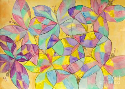 Painting - Butterflies, Painting by Irina Afonskaya