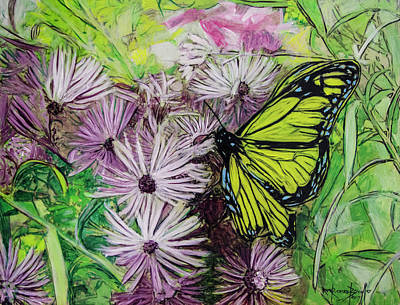 Painting - Buterfly Aster by Ron Richard Baviello