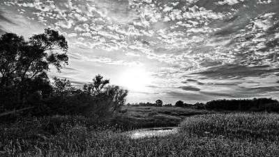 Photograph - Butler County Sunset Bnw by Bonfire Photography