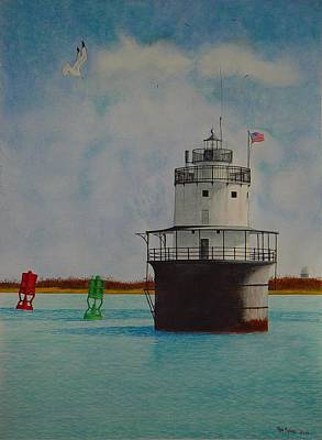 Painting - Butler Flats Lighthouse by Ron Sylvia