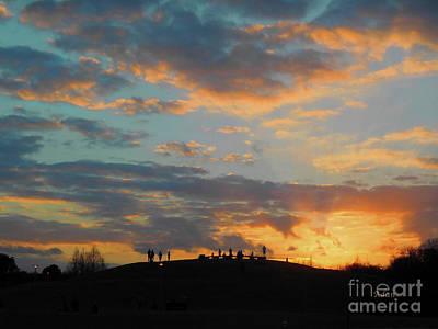 Butler Park Austin Texas Photograph - Butler Park Sunset Silhouette Austin Texas - One by Felipe Adan Lerma