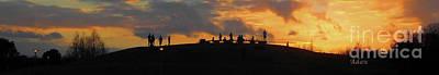 Photograph - Butler Park Sunset Silhouette Austin Texas - One Horizon Line by Felipe Adan Lerma