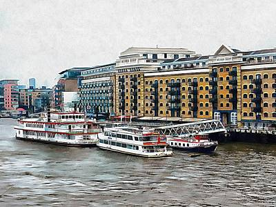 Photograph - Butler's Wharf Area London by Dorothy Berry-Lound
