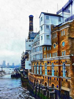 Photograph - Butlers Wharf View by Dorothy Berry-Lound