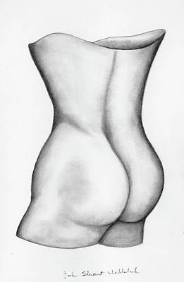 Art Print featuring the drawing Butt Of A Study by John Stuart Webbstock