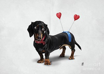 Dachshund Art Digital Art - Butt Wordless by Rob Snow