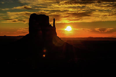 Photograph - Butte Silouette  by Levin Rodriguez
