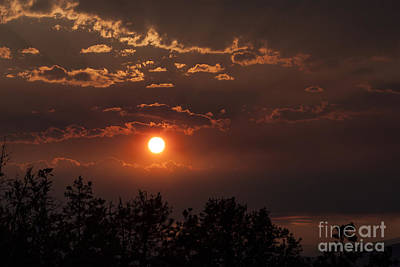 Yellow Photograph - Butte Sunset 2 by Carolyn Brown