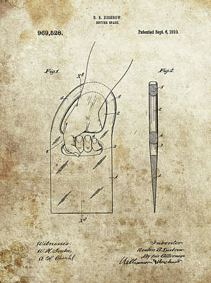 Drawing - Butter Spade Patent by Dan Sproul