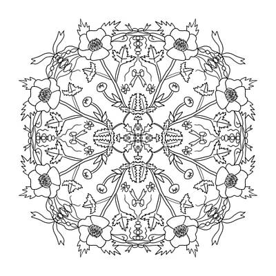 Digital Art - Buttercup Mandala by Tanya Provines