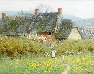 Building Exterior Painting - Buttercups by Helen Allingham