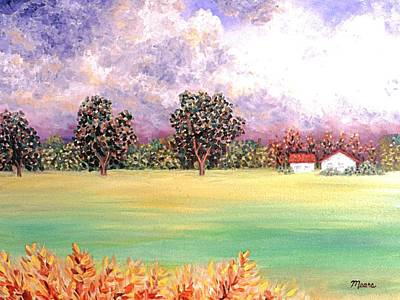 Impressionistic Landscape Painting - Butterfield Meadows Three by Linda Mears