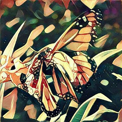 Digital Art - Butterfies In Love Abstract by David Mckinney