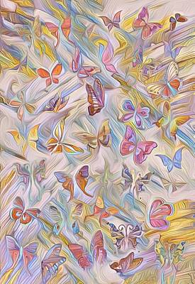 Mixed Media - Butterflies Abstract  by Gabriella Weninger - David