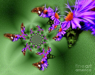 Photograph - Butterflies Abstract by Smilin Eyes  Treasures