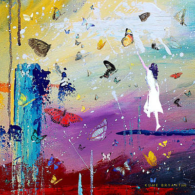 Mixed Media - Butterflies And Me by Kume Bryant