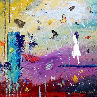 Butterflies And Me Art Print