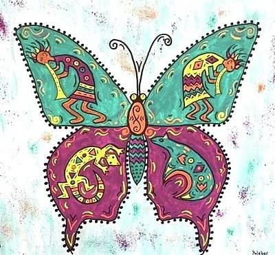 Painting - Butterflies Are Free by Susie WEBER