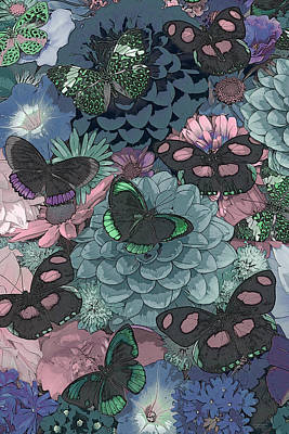 Darrell Gulin Painting - Butterflies by JQ Licensing