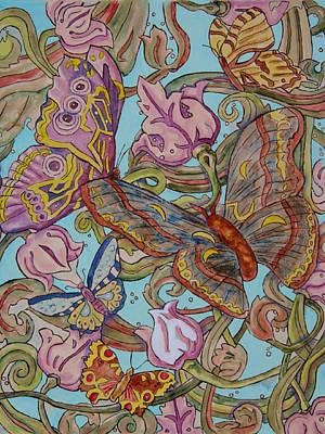 Butterflies Everywhere Art Print by Laura Heggestad