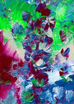 Butterflies, Fairies And Flowers Art Print