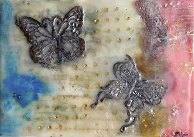 Painting - Butterflies Fly  by Zilpa Van der Gragt