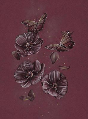 Butterflies Flying Through The Cosmos Original