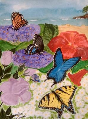 Blue Swallowtail Mixed Media - Butterflies For De An by Jennifer Irene Stuart