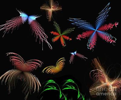 Digital Art - Butterflies Galore by Yali Shi