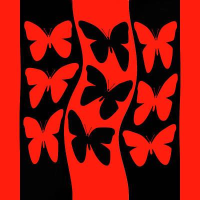 Digital Art - Butterflies Heading Home by Robert Frank Gabriel