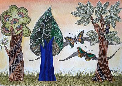 Mixed Media - Butterflies In Love by Graciela Bello