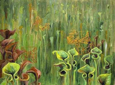 Painting - Butterflies In The Bog by Suzanne McKee