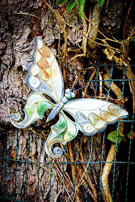 Photograph - Butterflies In The Graveyard by Camille Lopez
