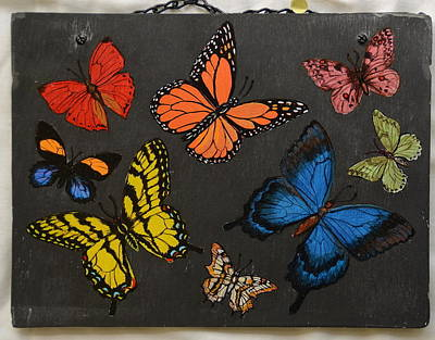 Painting - Butterflies by Jacqueline Del  Fonso