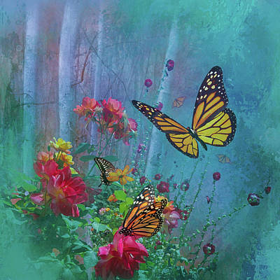Digital Art - Butterflies by Jeff Burgess
